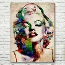 LMOP712 charmed color Marilyn Monroe portrait hand wall art oil painting canvas