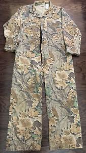 Vintage Walls Camo Camoflage Treebark Hunting Suit Coveralls Mens XL Regular Vtg