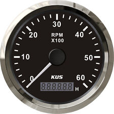 85mm Black KUS Tachometer 0-6000rpm for diesel engine CMHB-BS-6KL (SV-KY07000)