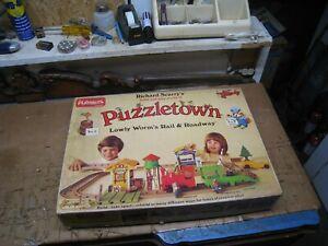 Vintage 1976 Richard Scarry's Puzzletown Set E Lowly Worm's Rail & Roadway