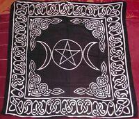 Triple Moon Pentagram Altar Tarot Cloth
