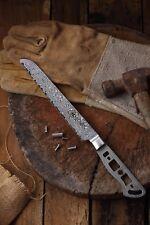 KATSURA Japanese Damascus AUS 10 woodworker Bread knife kit blank 8 inch