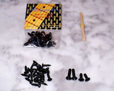 Black Pickguard Screws Fender Stratocaster Telecaster or Similar - Complete Set