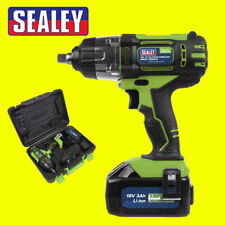 "Sealey 18V Cordless 1/2"" Impact Wrench CP400LIHV Gun 3Ah Li-ion Battery Charger"