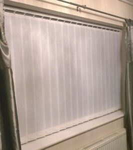Vertical blinds non blackout Rossini white pattern Made to Measure up to 400cm