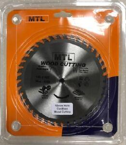 MTL 165mm x 40T x 10mm TCT Circular Saw Blade, Thin Kerf Sawblade Cordless Saws