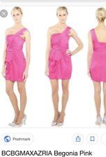 NWT New BCBG Max Azria Palais One-Shoulder Cocktail Dress Begonia Pink Size 8 M