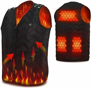 NEW❗🔥USB Electric Heated Vest Size Adjustable Heated Clothing For Men Women