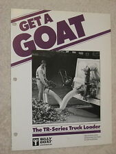 1980s BILLY GOAT TR-SERIES TRUCK LOADER VACUUM CLEANER SPEC SHEET BROCHURE