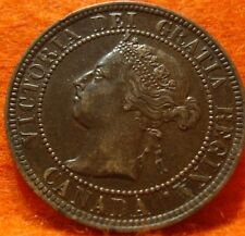 1896 XF-AU High Grade CANADA LARGE CENT Victoria COIN NoRes CANADIAN