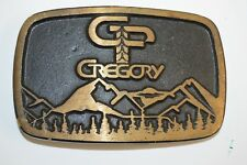 Vintage 1970s Gregory Backpacking Trail Hiking Solid Brass Belt Buckle Rare