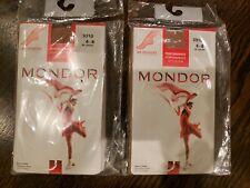 *Lot f 2* NEW MONDOR 3310 ICE SKATING TIGHTS SUNTAN 6-8 PERFORMANCE 3D LYCRA