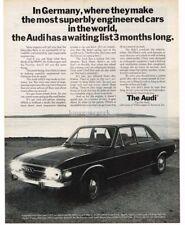 1970 AUDI 100LS 4-door Sedan Waiting List 3-months Long Vintage Ad