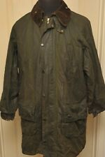 "BARBOUR GAMEFAIR WAX COTTON JACKET GREEN 42"" /107 CM VINTAGE 1980S 2 ROYAL CREST"