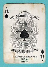 1 Single Swap Playing Card ACE OF SPADES #10 NATIONAL ALADDIN WIDE ANTIQUE WIDE