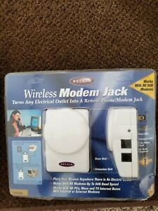 Belkin Wireless Phone/Modem Jack System Base+Extension+6' Cord NEW! F5C088