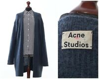 Women's ACNE STUDIOS Mohair Wool Cardigan Sweater Cape Blue Size M