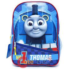 "Thomas Tank EngineSchool Backpack 14"" Book Bag - No 1 Thomas Molded Face"