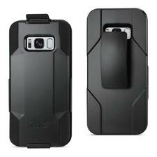 Reiko 3-In-1 Hybrid Heavy Duty Holster Combo Case For Samsung Galaxy Cell Phones