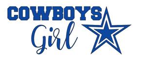 Dallas Cowboys Girl NFL Football Car/Laptop/Cup Sticker Decal