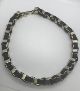 Kurt Geiger Gill Necklace Black - Brass £45 RRP