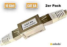 odedo® 2x CAT6A - 10G RJ45 LAN Verbinder Netzwerk Kabel Metall Patch Kupplung