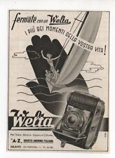 Pubblicità 1941 WELTA WELTINI FOTO PHOTO advertising werbung publicitè reklame
