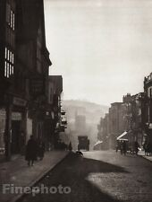1926 Vintage Print UK England HIGH STREET GUILDFORD Surrey City Photo Art HOPPE
