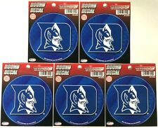 """Lot of 5 Officially Licensed 4 1/2"""" round decals Duke Blue Devils"""