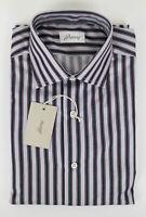 NIB BRIONI Gray Striped Cotton Slim Fit Dress Shirt Size 40 EU 15.75 US $675