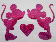 Mickey & Minnie Holograma/Holográfica Camiseta Hierro en transferencia *