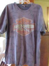 Mens Sz  XL HARLEY DAVIDSON Hollywood CA Dark Grey Marbled T-Shirt