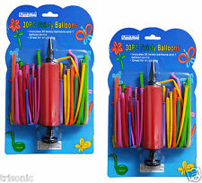 60 Mixed Color Magic Long Animal Tying Making Twist Latex Balloons + 2 FREE Pump