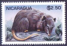 Fox pee peeled, Zorro cola pelada, Rodents, Nicaragua 1995 MNH -V40
