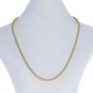 "Pandora Charm Necklace 16.5"" - 14k Yellow Gold NEW Authentic Genuine 550703-42"