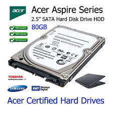 "80GB Acer Aspire 5738 2.5"" SATA Portatile unità disco rigido HDD Upgrade"