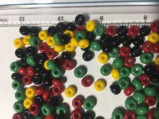 Irie Beads Rasta Czech Seed Bead Mix   Red Yellow Green Black Czech Seed Beads