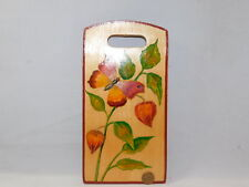 Vintage Russian Painted Cutting Decorative Board Butterfly Chinese Lantern