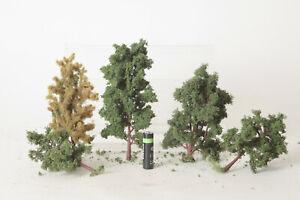 H0  5 mittelgroße - große schöne Bäume (123055)