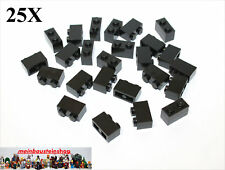 25X Lego® 3004 Basic Steine Bricks 1X2 Schwarz Black NEU
