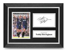 Teddy Sheringham Signed A4 Photo Framed Display Spurs Memorabilia Autograph COA