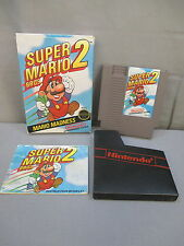 "Nintendo ""SUPER MARIO BROS. 2"" Video Game w/ Box NICE CONDITION! 1988 NES"