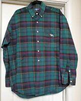 POLO RALPH LAUREN Blake Plaid Button Front Scottie Dogs Shirt Size Large