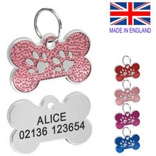 FREE ENGRAVING Dog ID / Cat ID Name Tag Bone Personalised Puppy Pet IDTags