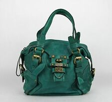 Juicy Couture Turquoise Polynesian Leather Turnlock Satchel YHRU1807 443