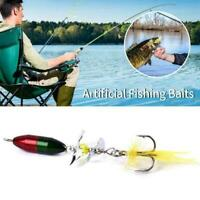 Rotating Spinner Sequins Feather Fishing Lure Wobbler Artificial Y0F7 Bait V3S9