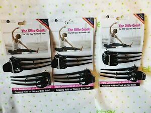 Loc A Loc The Little Giant Tiny Claw Hair Accessory 3 Packs Black New