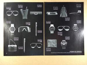 1988 Porsche Design Watches Sunglasses Bags Cases vintage print Ad