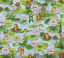 Leap Frog frogs cute kids RJR  fabric