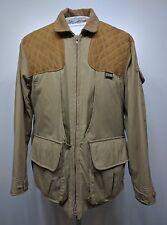 VTG REMINGTON Mens M Khaki Suede Padded Skeet Shooting Hunting Game Coat Jacket